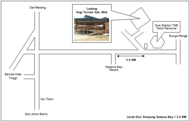 Lokasi Ladang Segi Ternak Sdn. Bhd.