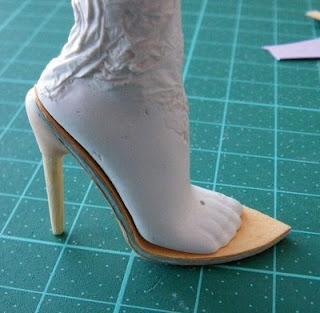 Туфли для куклы на каблуках 123