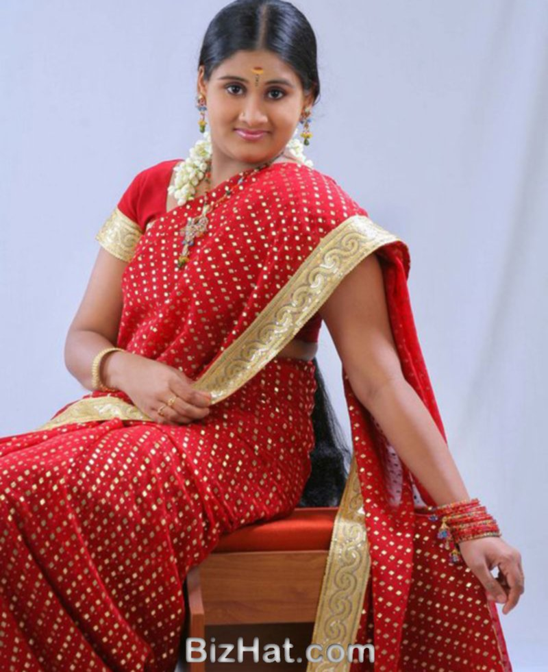 Malayalam TV Actress Dimple in Saree Photo