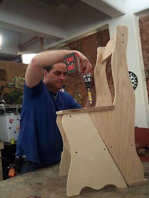 Carpinteria y tallado de madera silla escalera for Silla escalera plegable planos