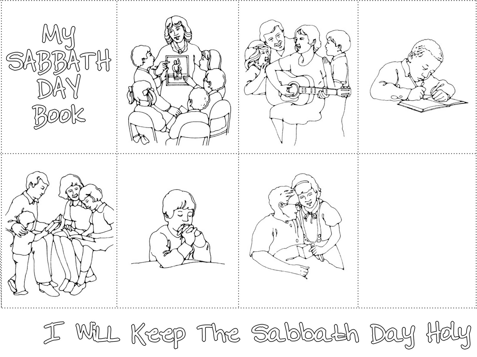lds primary printables my sabbath day book