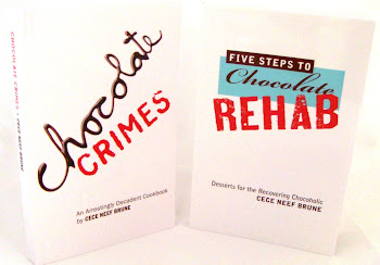 FIVE STEPS TO CHOCOLATE REHAB AND CHOCOLATE CRIMES COOKBOOKS