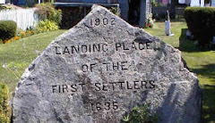 Monument to the first settlers of Newbury Mass.