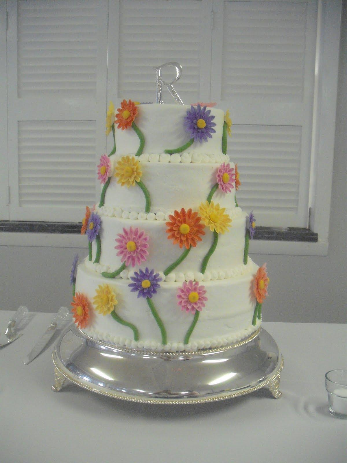 Crazy Daisy Cakes & More Gerber Daisy Wedding Cake