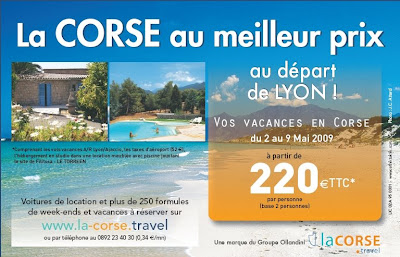 Le progres en ligne pour les vacances en Corse