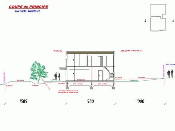 Notre maison passive au pays des 3 fronti res lorraine septembre 2010 - Plan de coupe maison ...