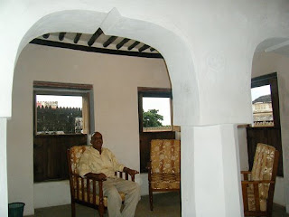 Comfortable reading rooms at Nyuma Gereza Hotel, Lamu Island, Kenya