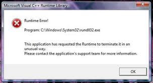 windows system rundll32 error