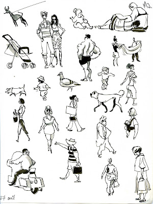Its Been A Long Hot Summer Here On The Cote DAzur Ive Clocked Up Many Hours Beach Great Place To Draw People Especially Nice Because