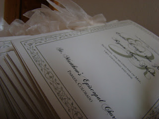ceremony+programs Real Wedding Colorado