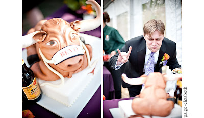 Bevo+grooms+cake Incredible Breckenridge Wedding for Jess and Mike