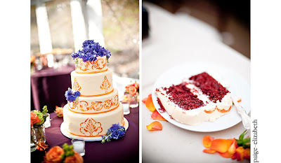 orange+and+purple+wedding+cake Incredible Breckenridge Wedding for Jess and Mike