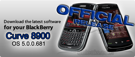 Official: BlackBerry Curve 8900 OS 5.0.0.681