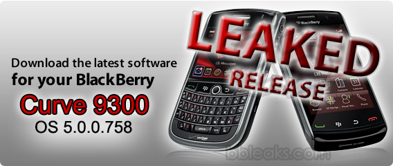 BlackBerry Curve 9300 Kepler OS 5.0.0.758 Leaked