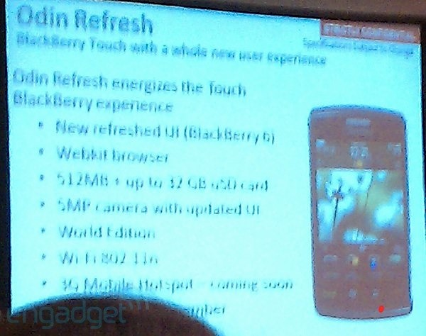 BlackBerry Storm3 Details Leaked in Training Slide?