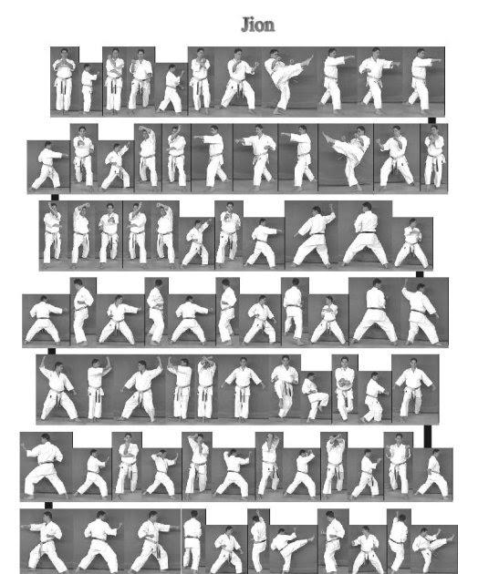 karate do kata jion nama sebuah kuil orang suci buddha
