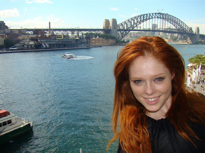 coco rocha red hair. Coco Rocha was en route
