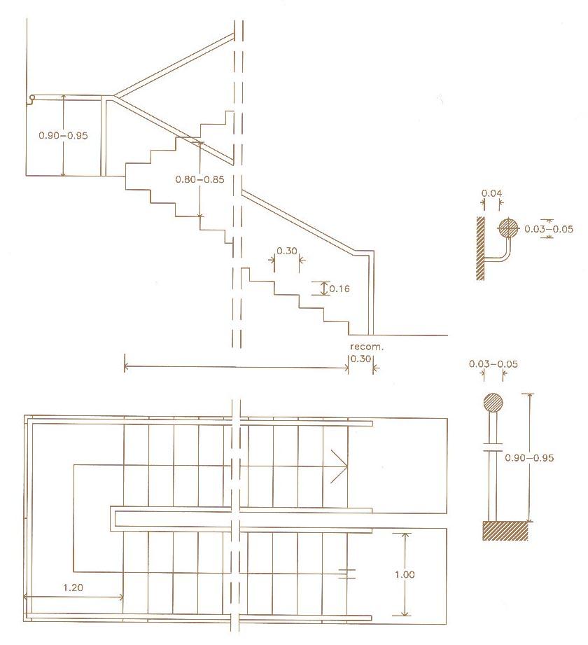 Viviendas adaptadas accesibilidad en la edificaci n for Escaleras en planta