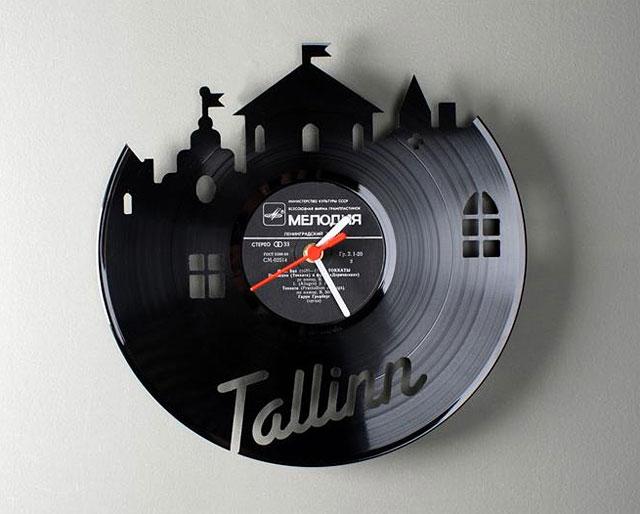 Tatamba blog de decoraci n relojes hechos con vinilos - Relojes de vinilo ...