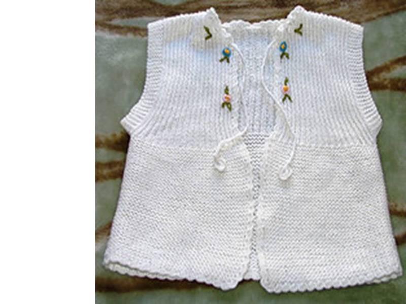 Bebek yelek modelleri örnekleri derya baykal beyaz kız bebek yelek