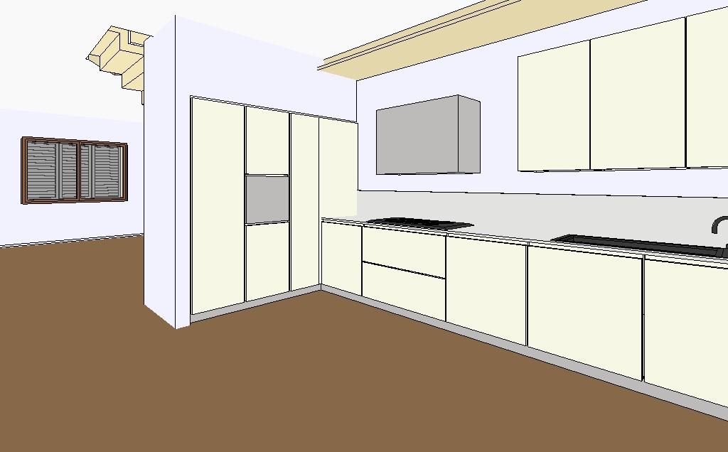 ilfotocane: Progetto di interno - Cucina e elemento in cartongesso con integr...