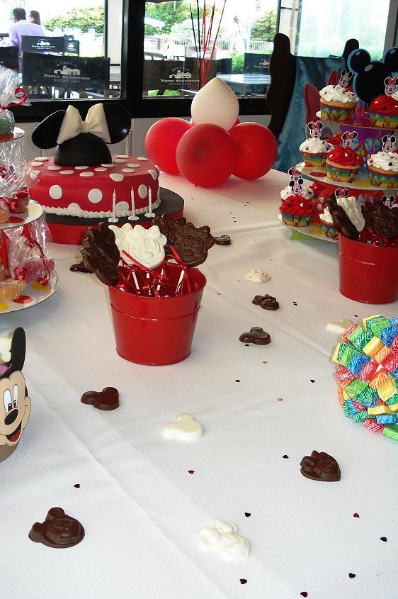 Mesa dulce tematica Minnie Mouse