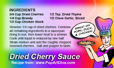 DIVA of TINY FOODS: DRIED CHERRY SAUCE - A Great Cranberry Substitute