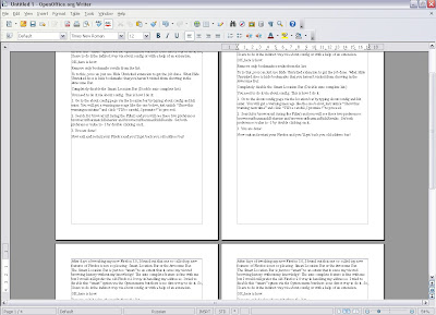 OpenOffice.org 3 Writer Multipage View