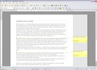 OpenOffice.org 3 Writer Notes