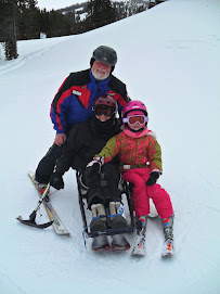 Charlie, Beth, and Lori hit the slopes