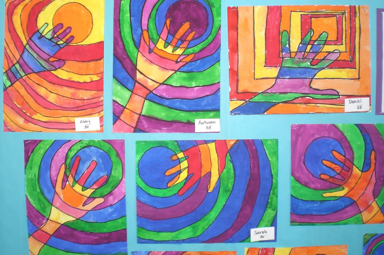 Art with mrs hurley warm and cool hands third grade art for Craft work for class 3