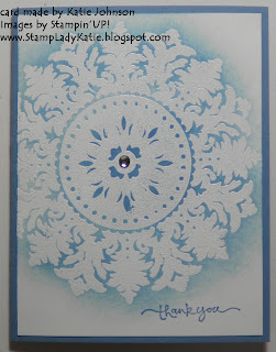 card made with the background stamp called Medallion
