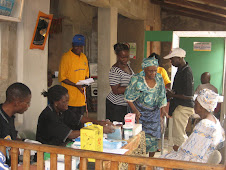 Some of the elders of Agency for the Aged at the community health check-up day...
