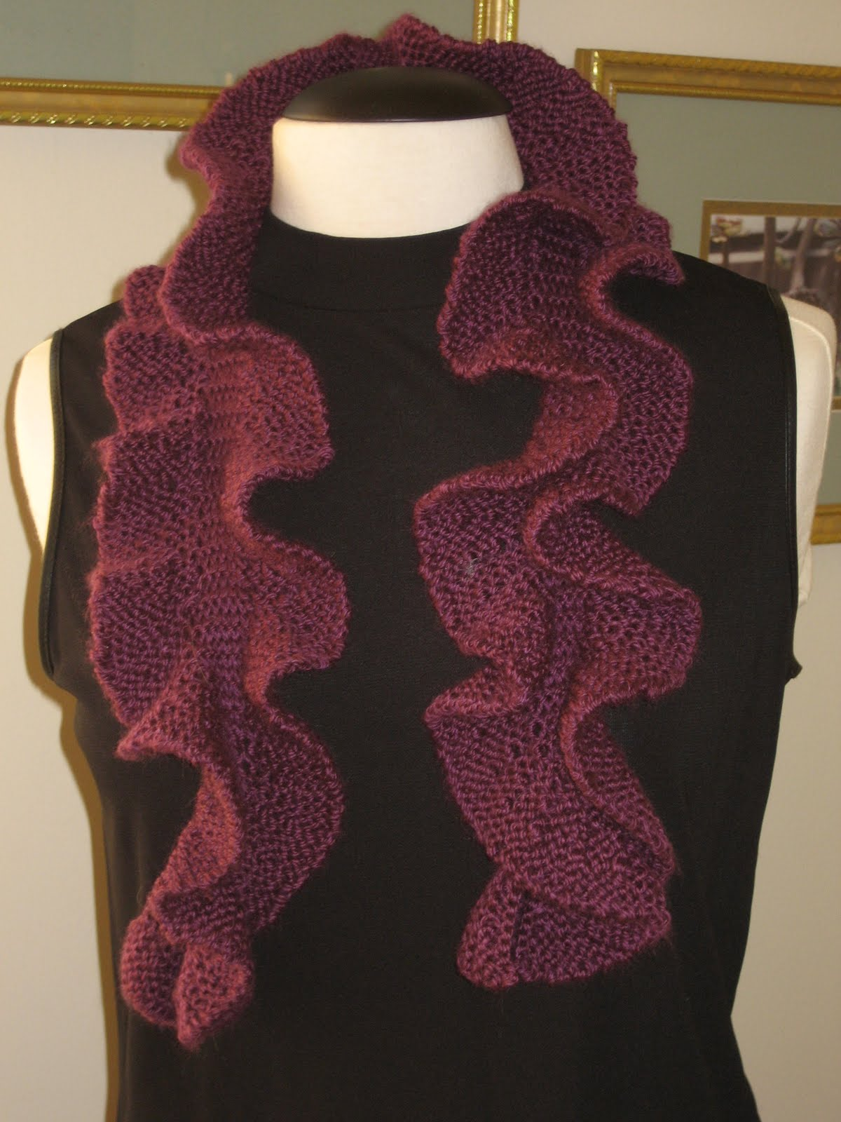 Ann Norling Short Row Scarf Pattern and Noro Kureyon Sock Yarn