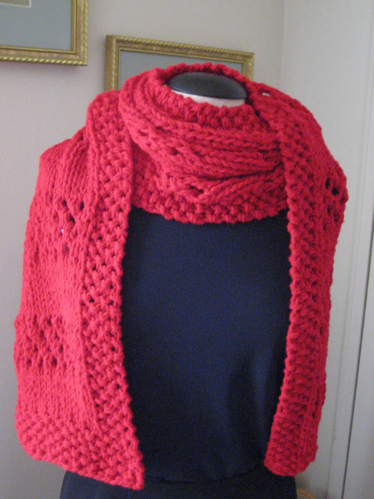 MY JOURNEY WITH YARN AND BEYOND: Airy Yet Warm - Free Knit Scarf Pattern
