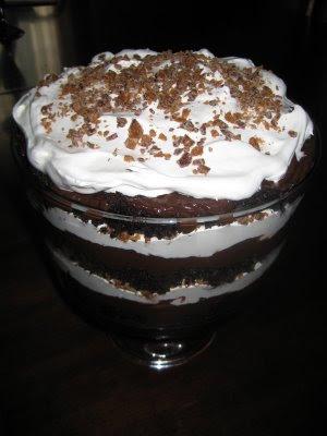 Layered Skor Cake