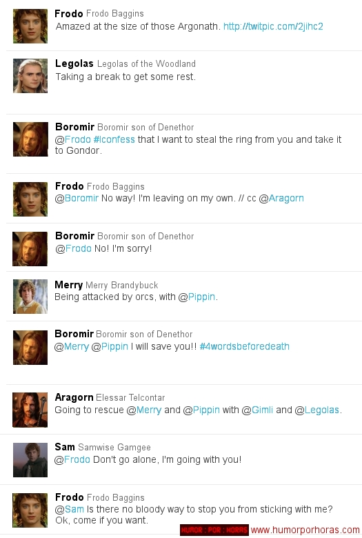 Lord of the Rings in Twitter form 5