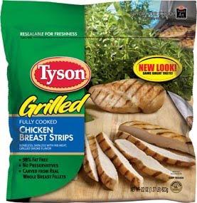 Tyson chicken breast strips