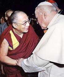 Papa João Paulo II e Dalai Lama