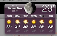 Weather Widget and a effing hot Buenos Aires