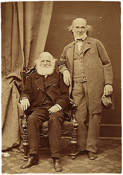 Hiram Powers and William Cullen Bryant, ca. 1865. Hiram Powers papers, Archives of American Art, Smithsonian Institution.