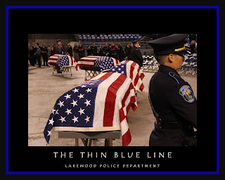 in law enforcement there is a saying the thin blue line the thin blue ...