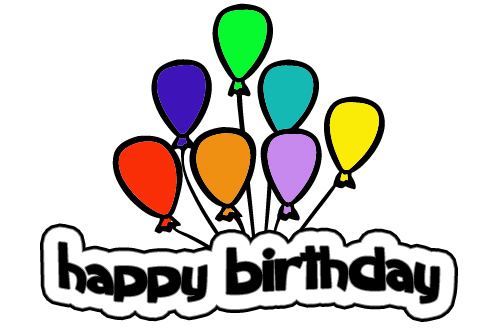 birthday balloons cartoon. happy irthday balloons gif
