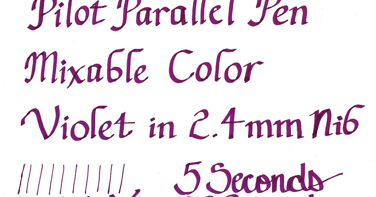 The Harmless Dilettante Pilot Parallel Pen Mixable Color