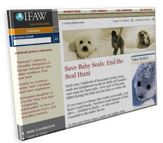 Image of IFAW Web site