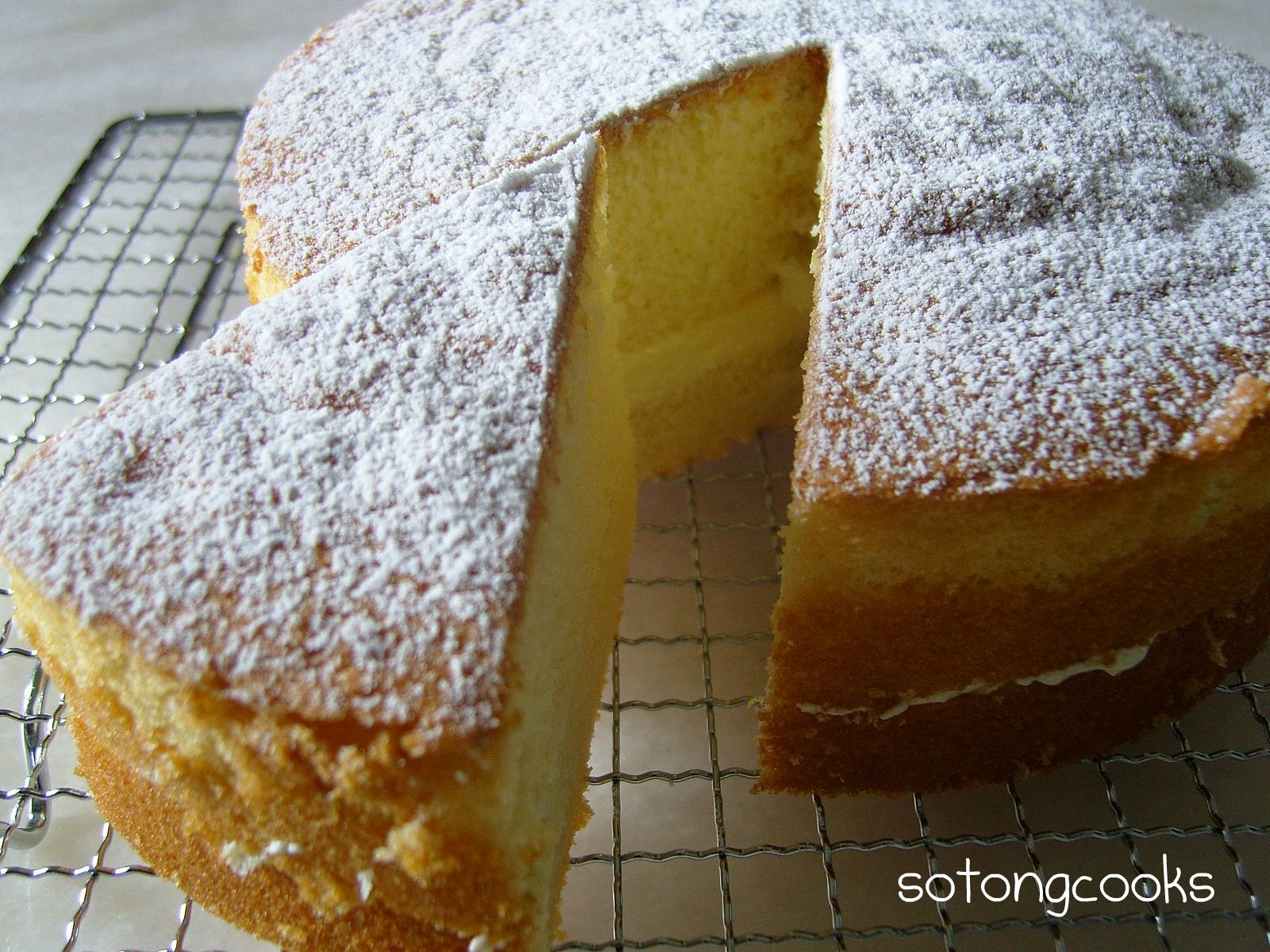 Perfect Sponge Cake Recipe Light Fluffy Moist And Tall