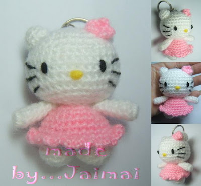 Knittersdelight: Crocheted Hello Kitty BumbleBee from Wists, top