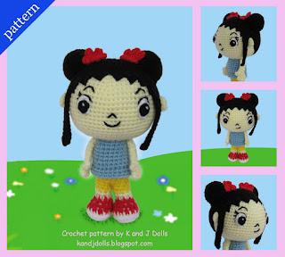 Kai-Lan Chow, Ni Hao! Chinese Amigurumi doll