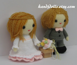Bride and Groom, Amigurumi, Crochet Pattern