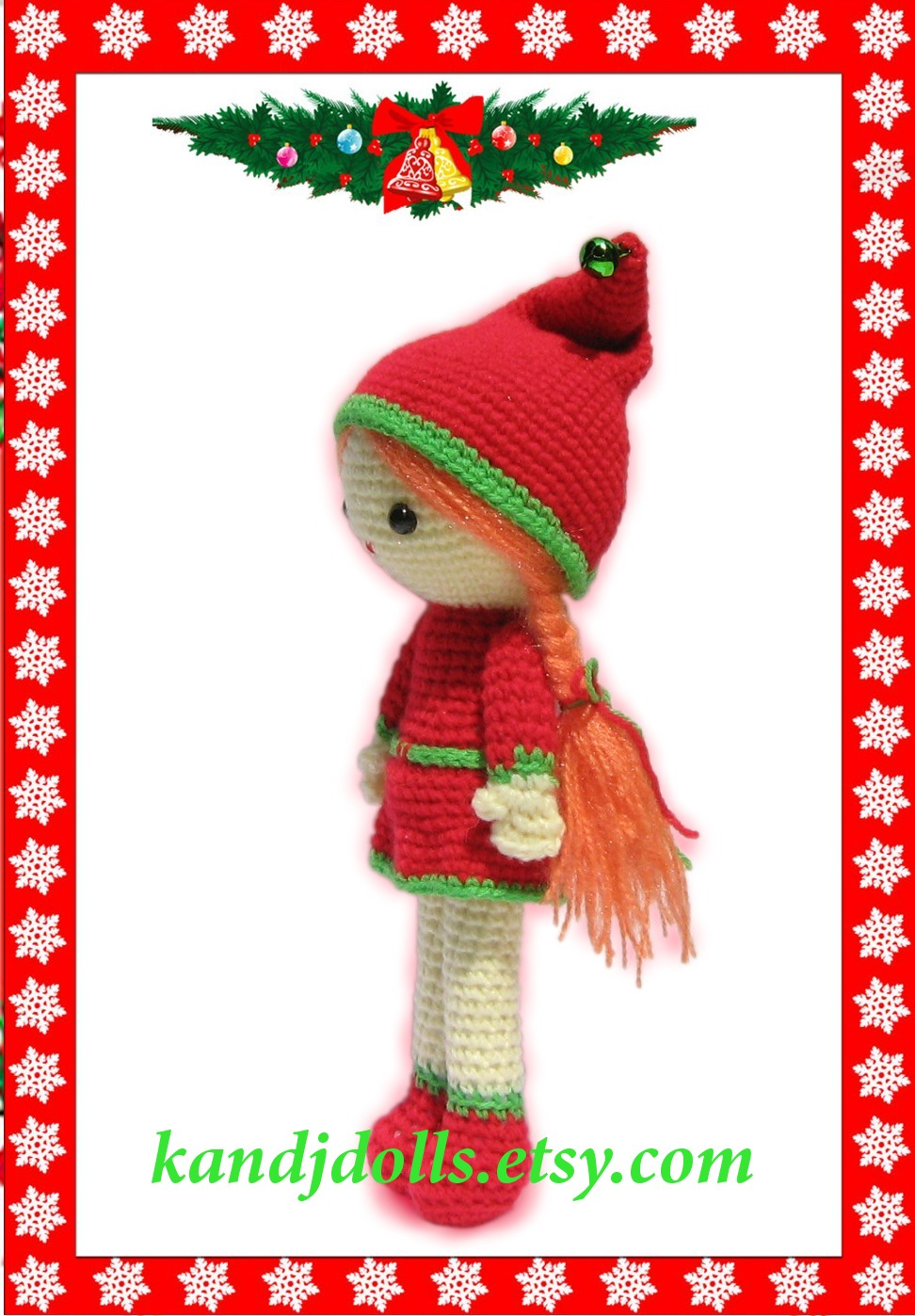 Christmas Girl Amigurumi - Sayjai Amigurumi Crochet Patterns ~ K and J ...
